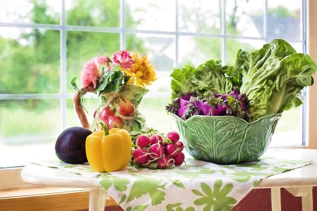 zelenina u okna