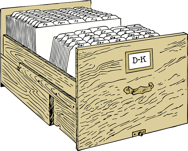 šuplík kartotéky